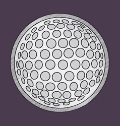 flat shading style icon golf ball vector image