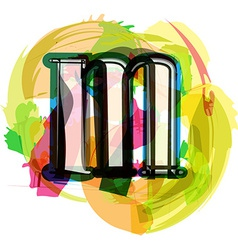 Artistic font - letter m vector