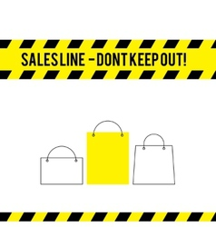 Comic caution line for sales vector