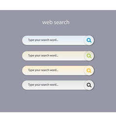 Web search field with light colors vector