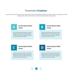 Presentation template column design vector