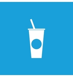 Drink icon 2 white vector