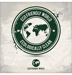 Alternative eco world stamp vector