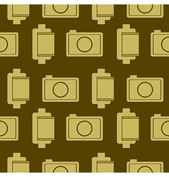 Background with elements of retro cameras and film vector