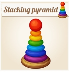 Stacking toy pyramid Cartoon vector image