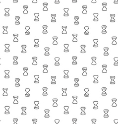 Hourglass clock wait seamless pattern vector