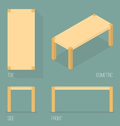 Set of modern table isometric drawing vector