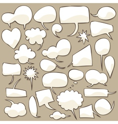 Speech bubble set vector
