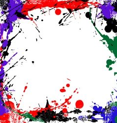 Coloured grunge art vector