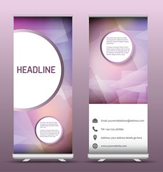 Advertsing roll up banners with abstract design vector image vector image