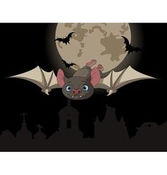 Bat in flight vector image vector image