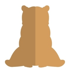 bear silhouette icon vector image