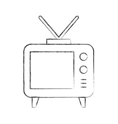big old television vector image
