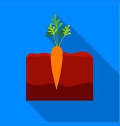 Carrot icon flat single plant icon from the big vector