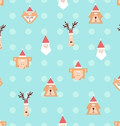 Christmas team pattern 2 vector image vector image
