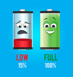 Concept batteries characters with vector