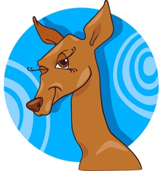 cute doe or roe cartoon character vector image vector image