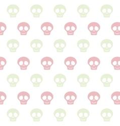 cute skull pattern vector image vector image