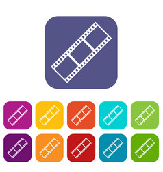 film strip icons set vector image