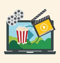 Movie digital design vector