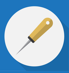 Of tools symbol on awl flat vector