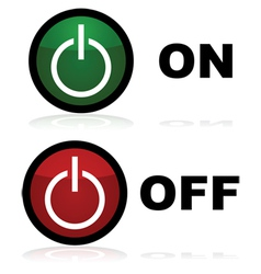 On and off buttons vector image vector image
