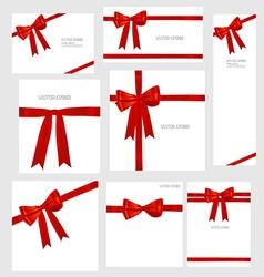 red ribbons Set vector image