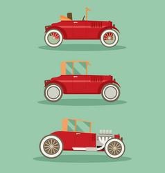 retro car set flat vector image