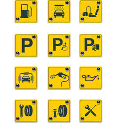 roadside services signs pt 1 vector image