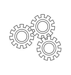 Set gear wheel cog cooperation teamwork concept vector