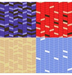 set of zigzag patterns vector image