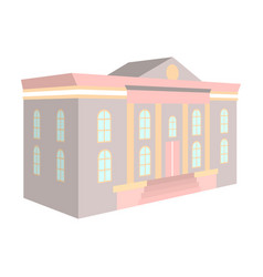 the architectural building of the museum the vector image