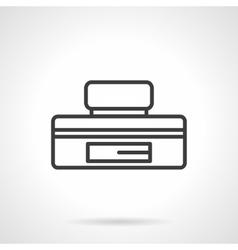Underfloor safe box black line icon vector
