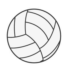 volleyball ball isolated icon design vector image