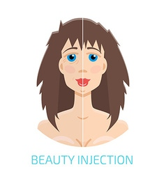 Botox injections before and after vector