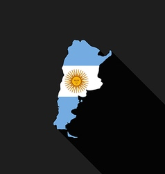 Argentina flag map flat design icon vector