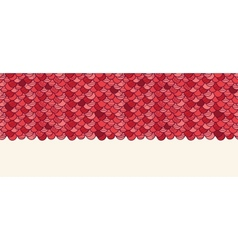 Red roof tile horizontal seamless pattern vector