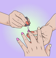 Made beauty salon manicure cost savings caring vector