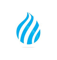swirl water drop abstract logo image vector image