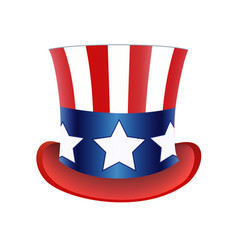 American flag hat independence day vector