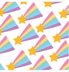 Shooting star pattern background vector