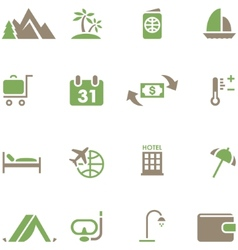 Set icons for travel and tourism vector