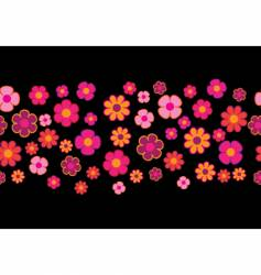 Flowers seamless background vector