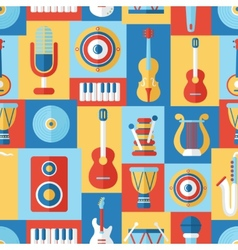 Seamless musical pattern vector