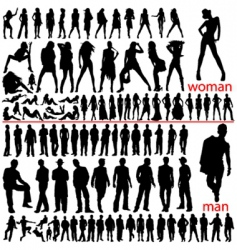 100 fashion people vector