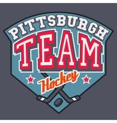 Pittsburgh Hockey Team vector image