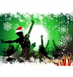 Christmas party background vector