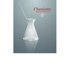 Chemistry glass laboratory instruments vector
