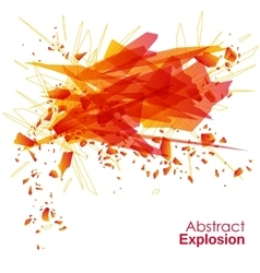 Abstract explosion geometric background vector