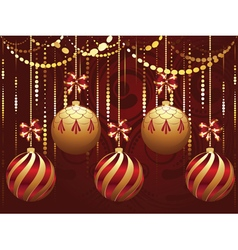 Decorative gold xmas balls9 vector